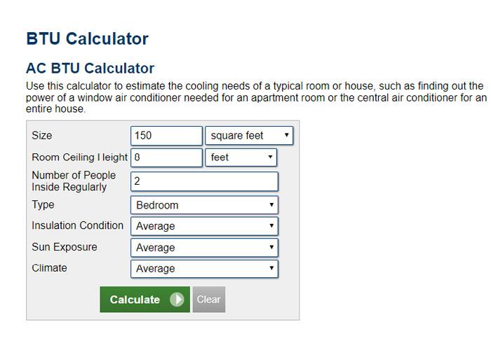فرمول محاسبه BTU کولر گازی
