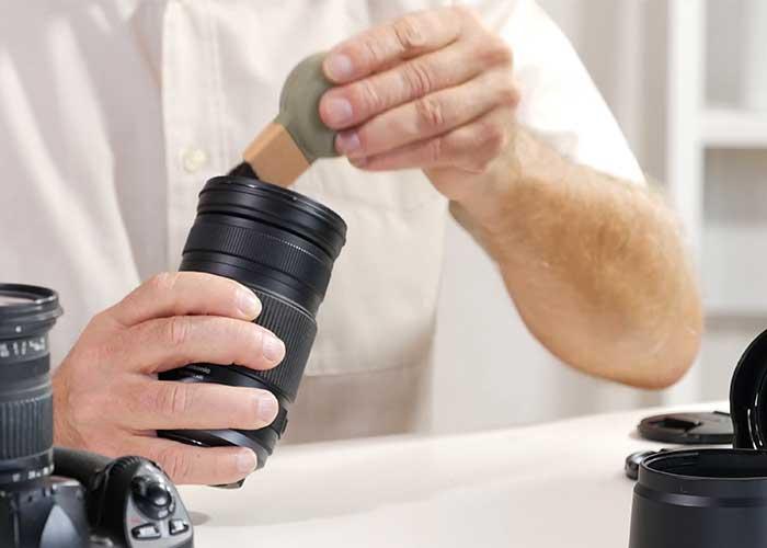 تمیز کردن دوربین