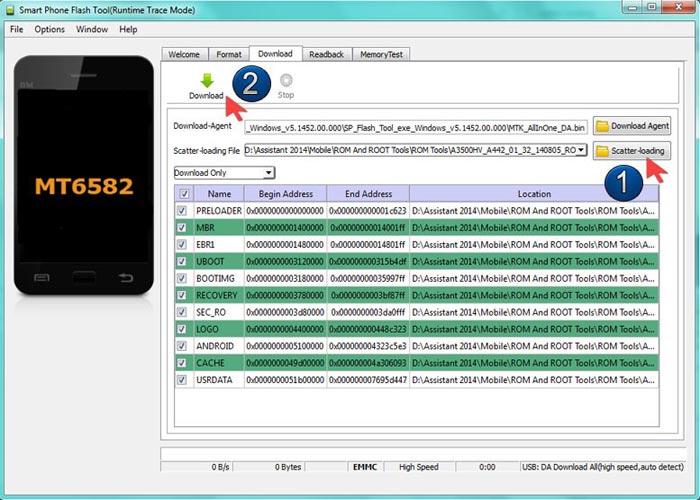 کار با نرم افزار رایگان SP Flash Tool
