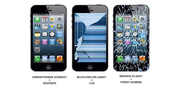 چگونه تشخیص دهیم تاچ یا گلس و یا ال سی دی گوشی شکسته است ؟