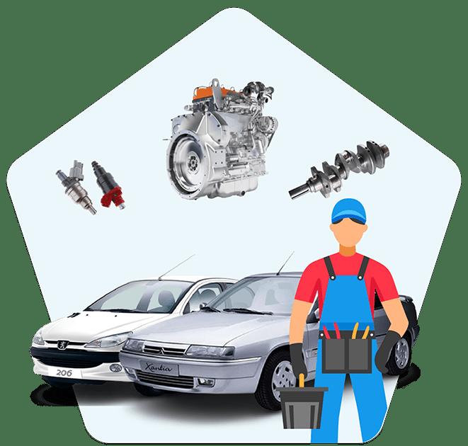 آموزش تعمیر موتور زانتیا و 206 تیپ 5