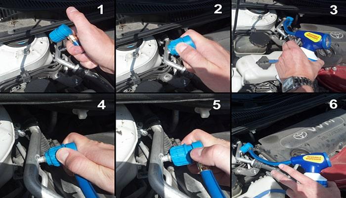 مراحل شارژ گاز کولر خودرو